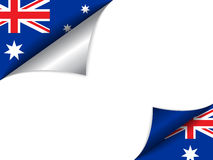 Australia Country Flag Turning Page Royalty Free Stock Photography