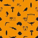 Australia country theme symbols seamless pattern eps10 Royalty Free Stock Photography