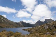 Australia Cradle Mountain pigeon Lake Stock Images