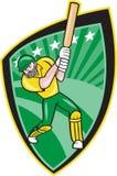Australia Cricket Player Batsman Batting Shield Stock Image