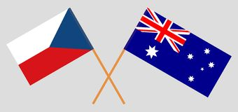 Australia and Czech Republic. The Australian and Czech flags. Official colors. Correct proportion. Vector. Illustrationn stock illustration