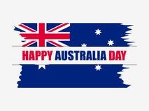 Australia día 26 de enero feliz Tarjeta de felicitación con la bandera de Australia en el estilo del grunge, festividad nacional  ilustración del vector