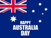 Australia día 26 de enero feliz Tarjeta de felicitación con la bandera de Australia, festividad nacional Vector ilustración del vector
