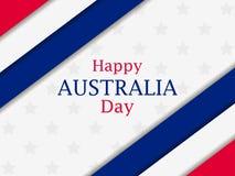 Australia día 26 de enero feliz Tarjeta de felicitación con las rayas y las estrellas, festividad nacional Vector libre illustration