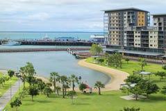 Australia, Darwin. Australia, homes and lagoon on recreation area Waterfront precinct in Darwin stock photo