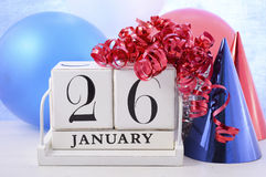 Australia Day Calendar Stock Photography