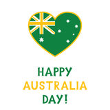 Australia Day card, text in hand lettered font Stock Images