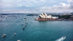 Australia Day celebrations in Sydney Harbour stock footage