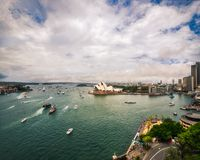 Australia Day Celebrations 2018 in Sydney Harbour. Sydney, Australia -January 26, 2018: Australia Day Celebrations in Sydney Harbour - View from Sydney Harbour royalty free stock photography