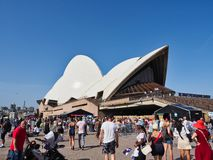Australia Day Crowds at the Sydney Opera House, Australia. 2019 Australia Day crowds at the Sydney Opera House, Bennelong Point, Sydney Harbour, NSW, Australia royalty free stock images