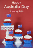 Australia Day cupcakes and sample text Royalty Free Stock Photos