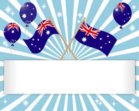 Australia Day. Festive banner. Australia Day. Festive banner with flags and balloons. vector Royalty Free Stock Image