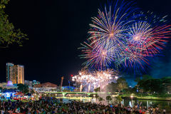 Australia Day fireworks Royalty Free Stock Photography