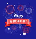 Australia day, fireworks and celebration poster design. Australia day, fireworks and celebration background, poster, banner Royalty Free Stock Photography