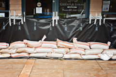 Australia Day floods, sandbags at the ready Stock Photos