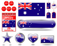 Australia Day icons. Stock Photos