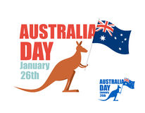Australia day. Illustration for patriotic holiday of country. Ka Stock Photography