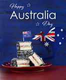 Australia Day lamingtons with text Royalty Free Stock Images