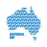 Australia Day. Map of Australia from kangaroo. Continent States Royalty Free Stock Photography