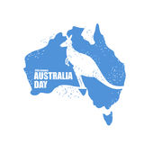 Australia day. National Patriotic holiday in Australia. Map of c Stock Images