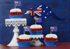 Australia Day party cupcakes Royalty Free Stock Photos
