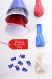 Australia Day party decorations. Royalty Free Stock Images