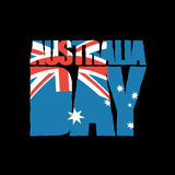 Australia Day. patriotic holiday. Australian flag in grunge. Style Vector Illustration