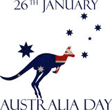 Australia day poster Stock Photography