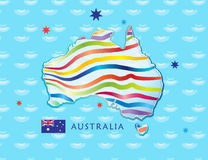 Australia Day poster Stock Photography