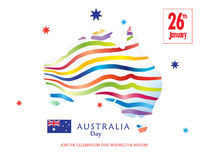 Australia Day poster Royalty Free Stock Photo