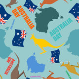 Australia day seamless pattern. Festive backdrop for national ho Stock Photos