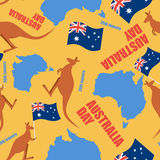 Australia day seamless pattern. Ornament for national day of Aus Stock Photography
