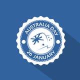 Australia Day Stamp Flag National Holiday Flat. Vector Illustration Stock Images