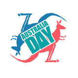 Australia Day. Traditional Australian patriotic holiday. Kangaro Stock Photos