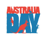 Australia Day. Traditional Australian patriotic holiday. Kangaro Stock Photography