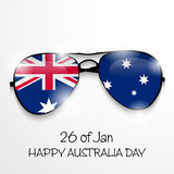 Australia day. Vector illustration of a beautiful background for Australia day Royalty Free Stock Image