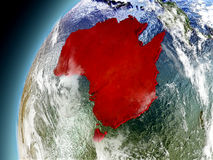 Australia de la órbita de Earth modelo Imagen de archivo libre de regalías