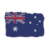 Australia decorative Flag. Flat  illustration EPS 10.  Stock Images
