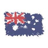 Australia decorative Flag. Flat  illustration EPS 10.  Royalty Free Stock Image