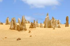 Australia - desierto de los pináculos Foto de archivo libre de regalías