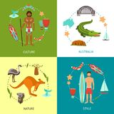 Australia Design Concept Stock Photos
