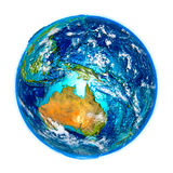 Australia on detailed model of Earth Stock Photography