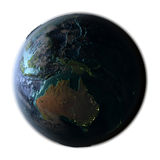 Australia on detailed planet Earth Royalty Free Stock Photos