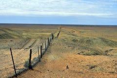 Australia, Coober Pedy, Dingo Fence Stock Photo