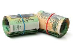 Australia Dollar, Bank note of Australia  and  USD Stock Images