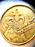 Australia dollar coin 2dollar. Coin use in australia Royalty Free Stock Image