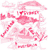Australia doodles Royalty Free Stock Photography