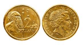 Australia dos dólares de moneda imagenes de archivo