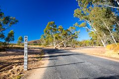 Australia Dry Creek Bed Royalty Free Stock Images