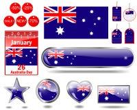 australia dzień ikony Zdjęcia Stock